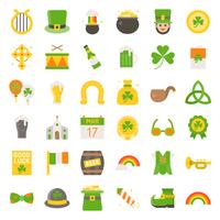 Feast of Saint Patrick vector set, flat icon