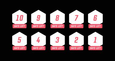 Simple hexagon number days left countdown