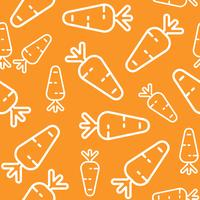 Carrot seamless pattern, outline vegetable wallpaper