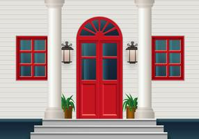 Closed Red Door vector