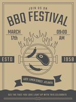 Cartaz retro bonito do BBQ