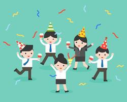 Gelukkige bedrijfspersoon op feestje, viering