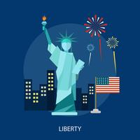 Liberty Conceptual illustratieontwerp