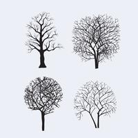 tree silhouettes for design vector