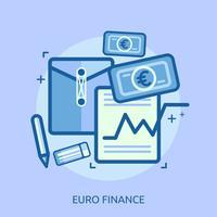 Yen Financiën Conceptueel illustratieontwerp