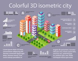 City isometric infographics
