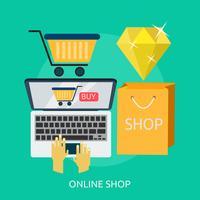 Tienda online ilustración conceptual diseño.