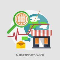 Marketing onderzoek conceptuele afbeelding ontwerp