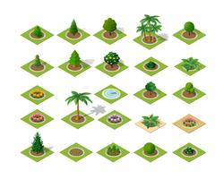 Set of design elements isometric