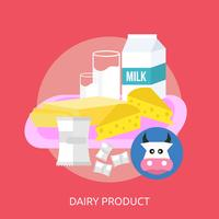 Dairy Product Conceptual illustration Design