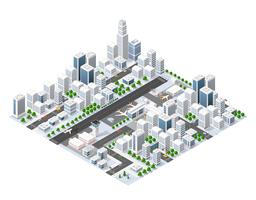 Isometric area landscape vector