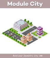 Isometric urban skyskrapa