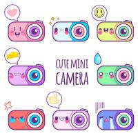 schattige camera sticker emoticon
