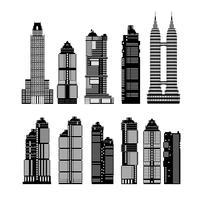 Moderna stadsskyskrapor