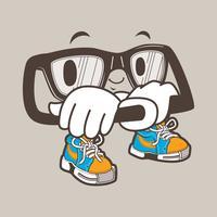 mascota de gafas nerd fresco