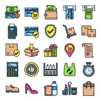Retail icons pack vector