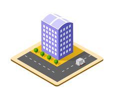 Kleurrijke 3D isometrische stad