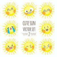 Conjunto de vectores lindo sol