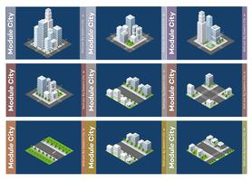 Urban isometric skyscraper