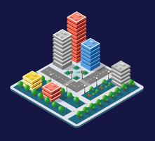 Colorful 3D isometric city