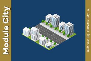 Arranha-céu urbano isométrico