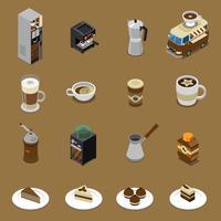 Koffie isometrische Set