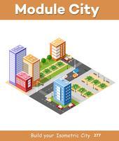 Isometric 3D city landscape