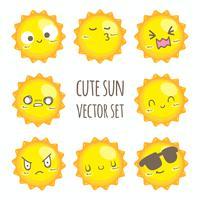 Jeu de soleil mignon vector
