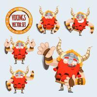 cute vikings vector set