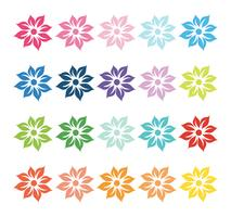 Buntes Set von Blumen