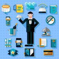 Restaurant Services Icons Set