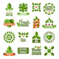 Organic And Natural Labels Set