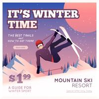 Wintersport-Plakat