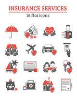Ensemble d'icônes de services d'assurance