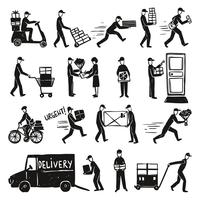Set de Doodle de entrega