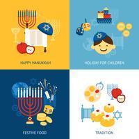 Concepto de diseño de Hanukkah