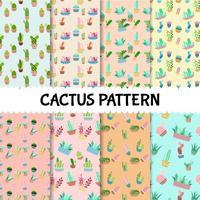 Nahtloser gesetzter Hintergrund des Kaktusmusters