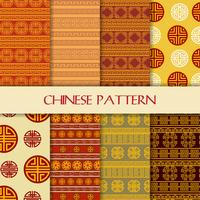 Beautiful Seamless Chinese Pattern set background