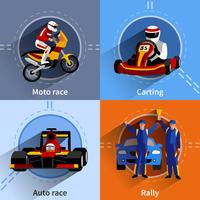 Racer Icons Set vector