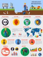 Archeologische infographics met elementen van oude artefacten