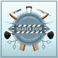 Barber Shop Realistic Concept vector