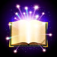 Ilustração de livro mágico