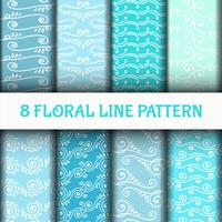 8 Set Abstract Line Art Pattern