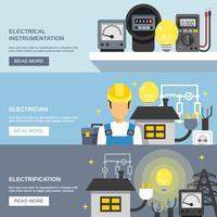 Ensemble de bannières d'électricité