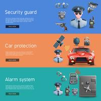 Security Horizontal  Banners Set