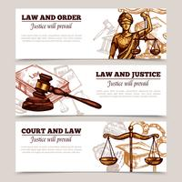 Horizontal Law Banners