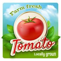 Cartel promocional de tomate