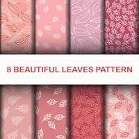 Set 8 Beautiful leaves pattern
