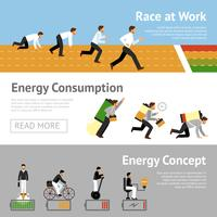 Businessman Energy Banner Set
