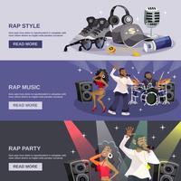 Banner di musica rap